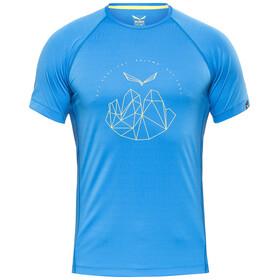 Salewa Pedroc Dry - Camiseta manga corta Hombre - azul